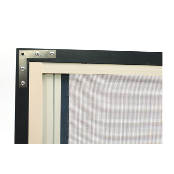 Retractable window with aluminum frame 0932