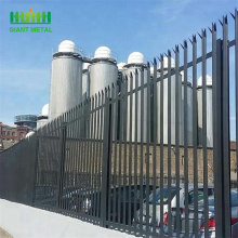 China for Palisade steel fence Details 3m height powder coated steel triple pointed palisade export to Puerto Rico Manufacturer