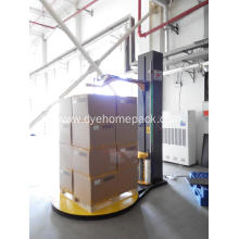 China for Pallet Wrapping Machine Pre-stretch pallet wrapper with top press export to Dominica Factory