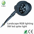 Landscape RGB lighting 9W led spike light