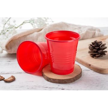 Red Plastic PP Cup