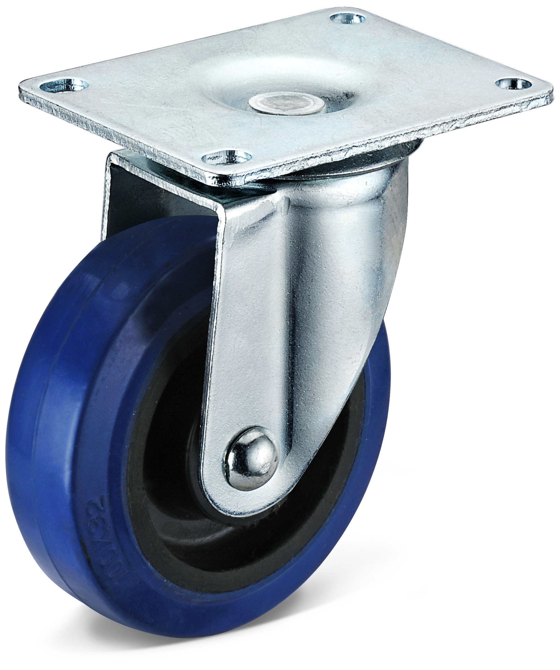 Elastic Rubber Large Flat Bottom Casters