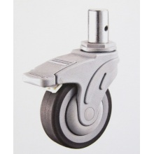 Solid stem brake TPR medical caster wheels
