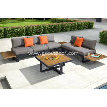 Popular nice platform wood appearance  platform sofa