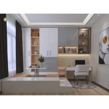 White and Grey Customizing Tatami Study Room