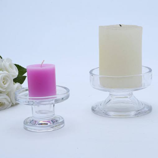 Glass Pillar And Dinner Candle Holders