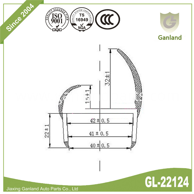 Reefer Truck Weather Strip gl-22124