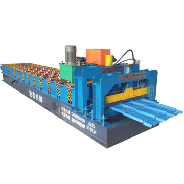 Steel roofing glazed tile roll forming machine