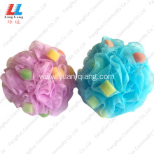 Quality for Mesh Sponges Bath Ball exfoliating loofah bath sponge colorful bath accessories export to United States Manufacturer