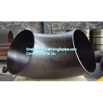 carbon steel pipe elbow with black color