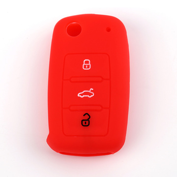 Volkswagen Skoda 3 Li-Buttons Remote Car Key Case