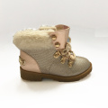 Girl Safty Flat Heel Boot Shoes