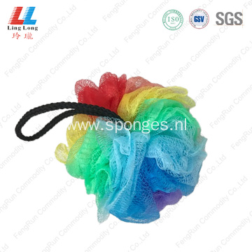 colorful bath mesh ball exfoliating loofah back scrubber