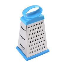 stainless steel 4-sided boxed grater with rubber base