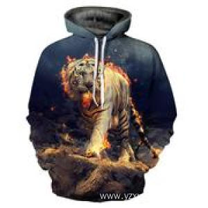Supply for Festival Dress Without Led Angry tiger 3D printing hoodie supply to Moldova Factories
