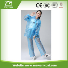 Blue PVC Rain Jacket and Pant