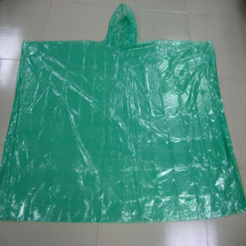 Disposable transparent rain poncho