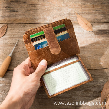 Credit Card Holder Genuine Leather Wallets Men