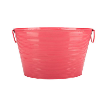 Pink Galvanised Steel Oval Shape Party Tub