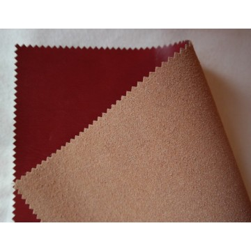 High Quality Pu Flocking Leather