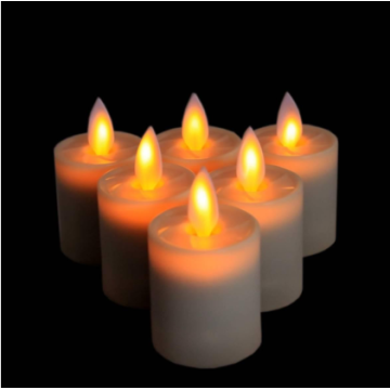 Cobblestone Mini Led Tea Light Cheap Wax Candle