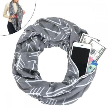 Fast Delivery for Ladies Scarf LADES Pocket Infinity Women Scarf supply to French Guiana Supplier