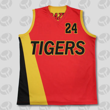 Quality for Custom Basketball Jersey cheap red Sleeveless reversible basketball jerseys export to Guyana Factories