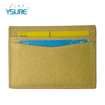 Cheap Front Pocket Pu Leather Credit Card Holder