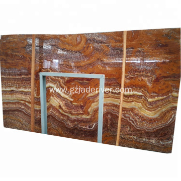 Brown Marble Slab Colorful Natural Onyx Stone