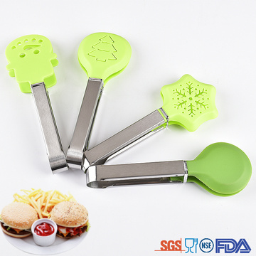 4 Pieces Series Shape Kitchen Nylon Tongs  for Kids Children