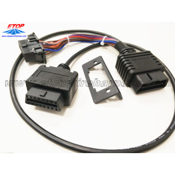 PriceList for for OBD2 Splitter Y Cables OBDII Male to OBDII Female wit bracket supply to South Korea Suppliers