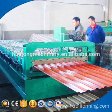 HT-840/900 double deck colored steel galvenize roof making machine