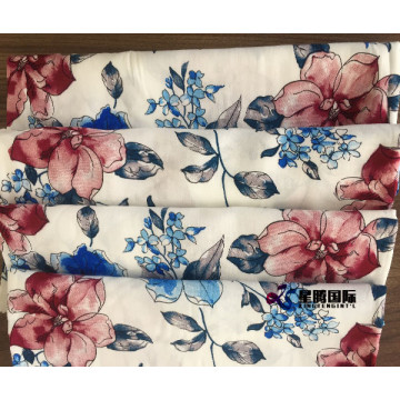 Flower Print Rayon Fabric For Garment Making