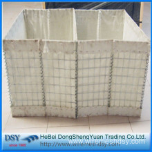 Sand filled hesco barriers galvanized gabion box