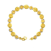 High Quality for Lucky Leaf K Gold Bracelet Lathe Carved Round Charm Bracelet export to Bermuda Suppliers