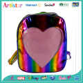 Love Heart rainbow color laser backpack