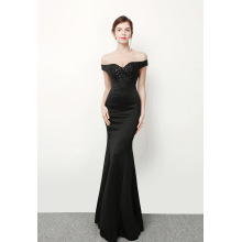 Wedding dress 2017, new black dress, slim, slim, evening dress, stage runway, the annual car model