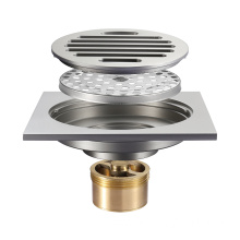 Good Quality for Brass Floor Drain,Anti-Odor Brass Floor Drain,Premium Brass Floor Drain Wholesale from China HIDEEP Brush Nickel Anti-odor Bathroom Floor Drain export to Poland Exporter