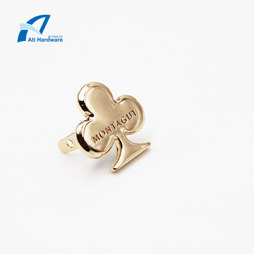 Customized Gold Metal Bag Logo or Label Hardware