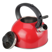 Household Red Whistling Kettle-Durable Handle