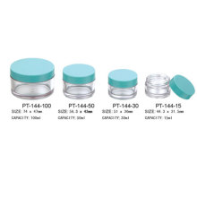 Round Cosmetic Plastic Pot
