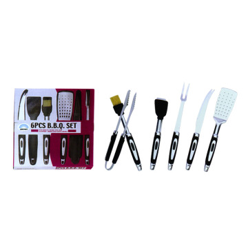 6pcs BBQ set with cleaning brush