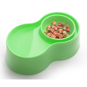 Anti-Ant Plastic Pet Bowl - Green