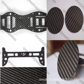 1.5x250x400mm twill matte carbon fiber sheet CNC goynta