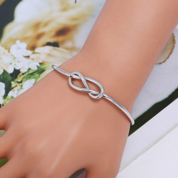Ladies Gold Love Knot Cuff Bracelet For Christmas