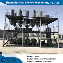 Quality for Diesel Oil Distillation Plant Smell-less output from waste oil refining distillation plant supply to Dominica Wholesale