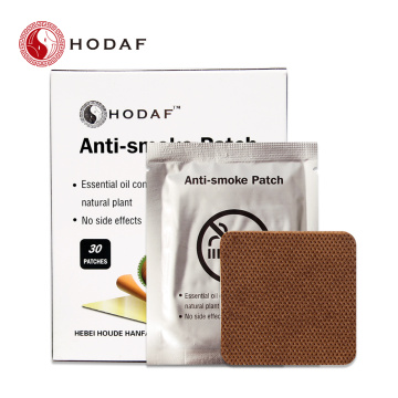 Natural stop smoking patch with certificate