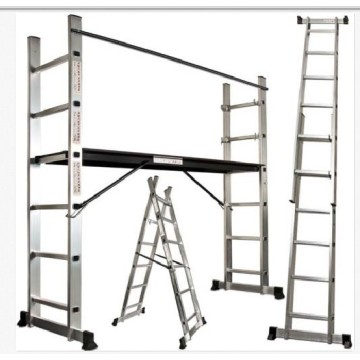 Industrial multi use platform and ladder