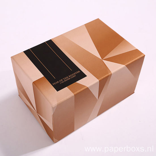 Fashionable Printed Paper Souvenir Gift Packaging Coin Box