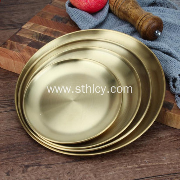 Korean Stainless Steel Thickened Gold Plate